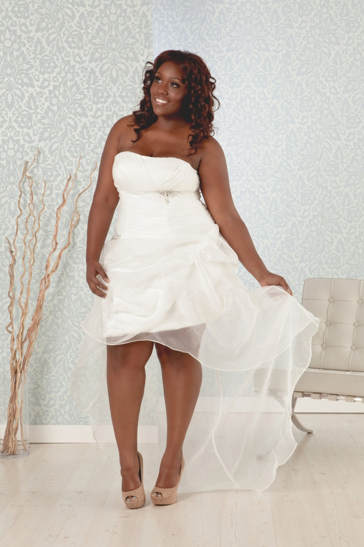 plus size wedding reception dress short lenght with