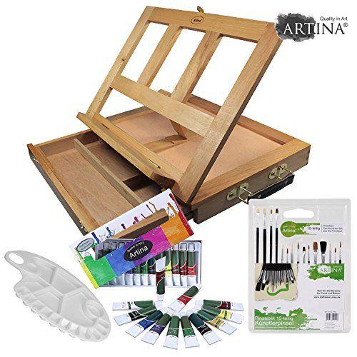 ARTINA® Starter set artistico con cavalletto da tavolo in... https://www.amazon.it/dp/B016AIDQZ6/ref=cm_sw_r_pi_dp_x_HSF5ybZ3HX4AP