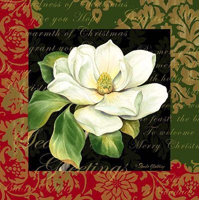 Christmas Botanical Magnolia <br> For Licensing Only <br> Pamela Gladding