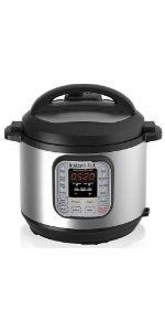 7-in-1 Multi-Use Programmable Pressure Cooker with Advanced Microprocessor Technology, Stainless Steel Cooking Pot - 8 Quart <br><br>Instant Pot is a smart Electric Pressure Cooker designed by Canadians with the objective of being Convenient, Dependable and Safe. It speeds up cooking by 2~6 times using up to 70% less energy and, above all, produces nutritious healthy food in a convenient and consistent fashion. <br><br>Instant Pot Duo 8 Quart is a 7-in-1 programmable c...