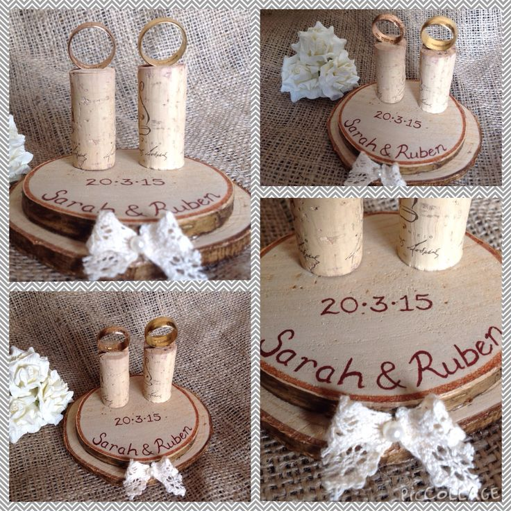 Luxury Unique personalised Ring Holder/Stand #wedding #unique #personalised #ring #rustic #wood #cork