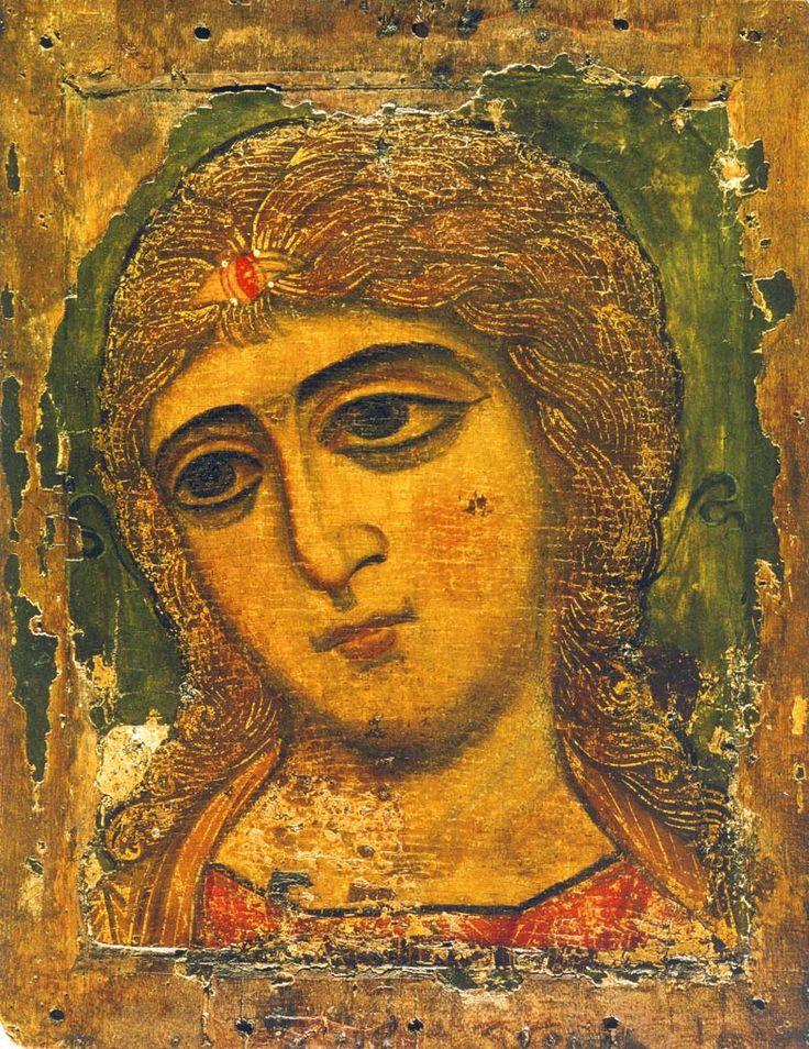 Archangel Gabriel - Novgorod, 12th century Архангел Гавриил (Ангел златые власы), 12 век