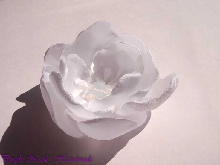Precious - Handmade Bridal Flower by Purple Nicole (Nicole Cea Mov). Materials: Satin, pearls, opalite.