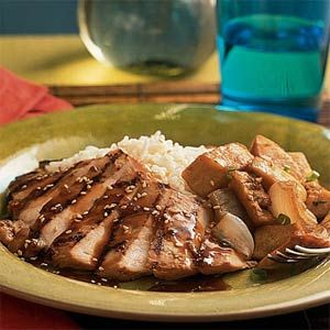7 Ways With Whiskey  | Grilled Chicken with Whiskey-Ginger Marinade | MyRecipes.com