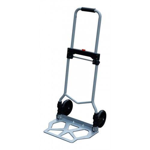 Diable pliant charge maximum 70 kg, plateau 42 x 28 cmDimension du diable plié: 5 x 42 x 69 cm, son poids 4,1 kg.Bon état comme neuf, se transporte facilement.