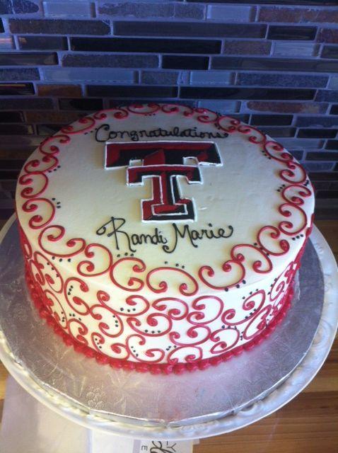Texas tech graduation cake, double T