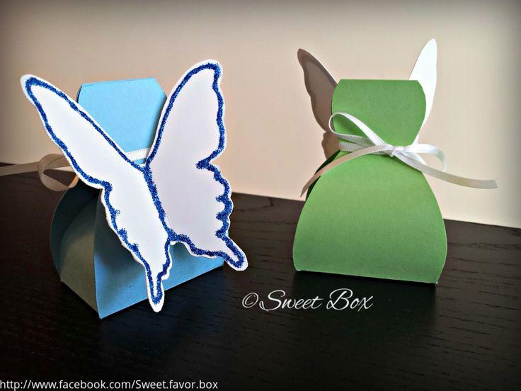 Fairy favor box. Fairy gift box. Fairy birthday favor.