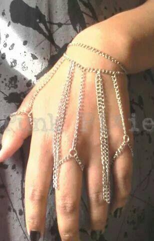 slave bracelet chain glove by Punk Pixie