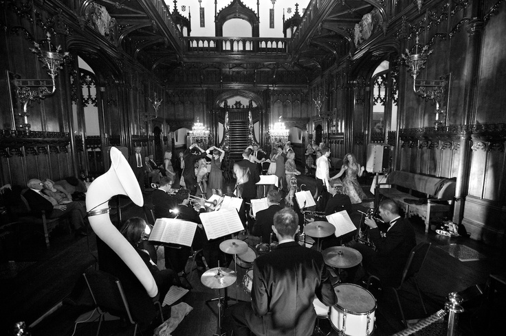 Brideshead Ballroom Stompers performing for a Wedding Party @ Allerton Castle, UK.   www.gourmetmusic.co.uk