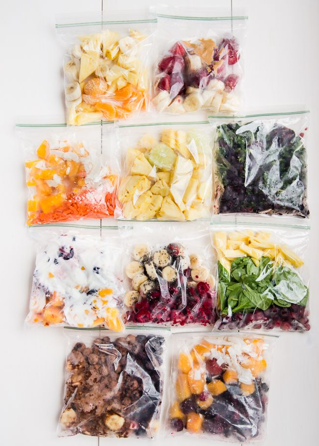 Smoothie Hack #3: Make Smoothie Freezer Packs. Another way to use the freezer is to bag everything up in smoothie batches, like in this Frozen Green Smoothie System (you can make a month's worth of green smoothies in an hour!). Simple 3-Ingredient Smoothie Freezer Packs are also a great way to make smoothies quick and painless.