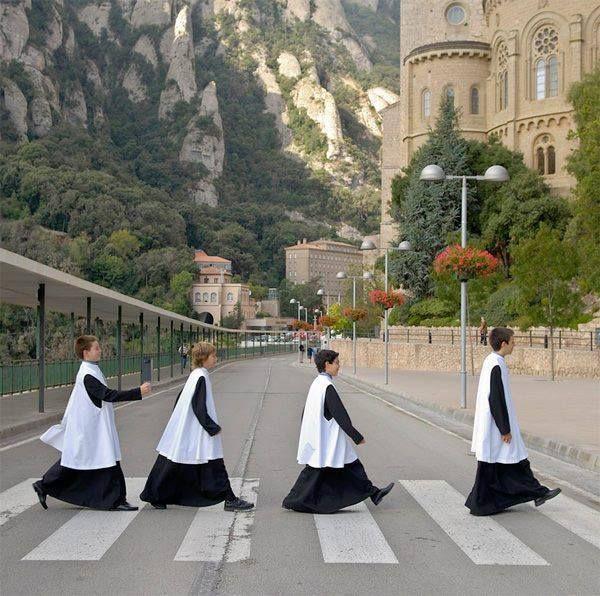 Singing boys at Montserrat's Road