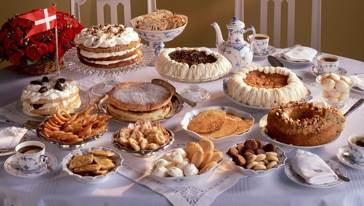 Table of cakes - from south of Denmark