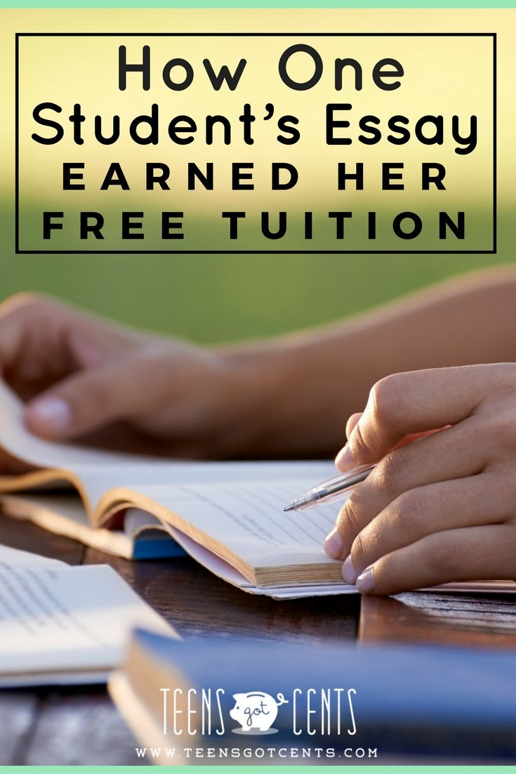How One Student's Essay Earned Her Free Tuition | TeensGotCents ...