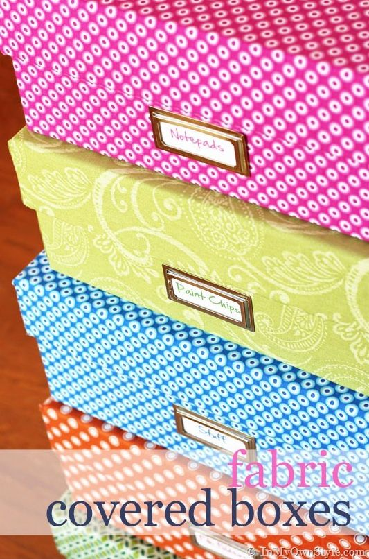 Make fabric covered boxes and 45 BEST Charming Lifestyle DIY & Tutorials EVER