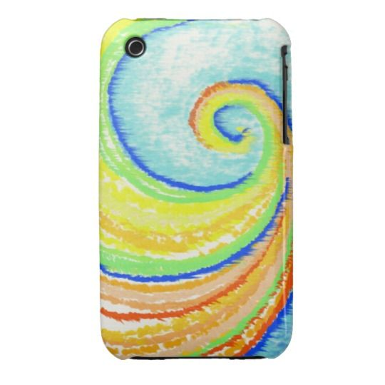 Rainbow Spiral to Happiness iPhone 3G mobile case  design by Charles Bridge 7x  #spiral#colorfull#rainbow#mobilecase#gift