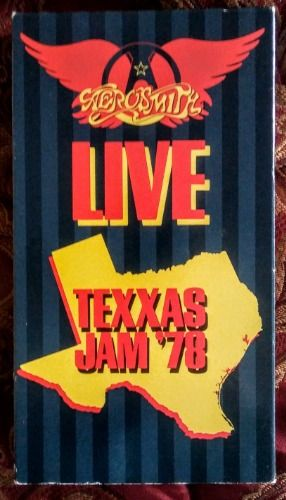 Aerosmith Live Texxas Jam '78 VHS 1988 CBS Records Tested. Plays Great!  See now:  Cassette and Video Corner