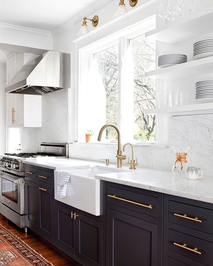 Mother's Day gift guide all under $100 up on http://Beckiowens.com today. Amazing kitchen via @elizabethlawdesign