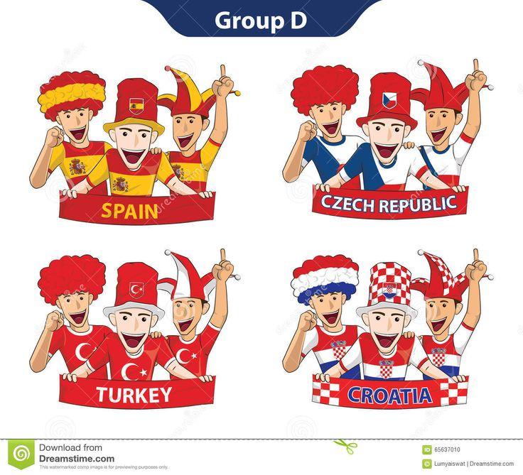 Euro 2016 Der Gruppen-D Vektor Abbildung - Bild: 65637010