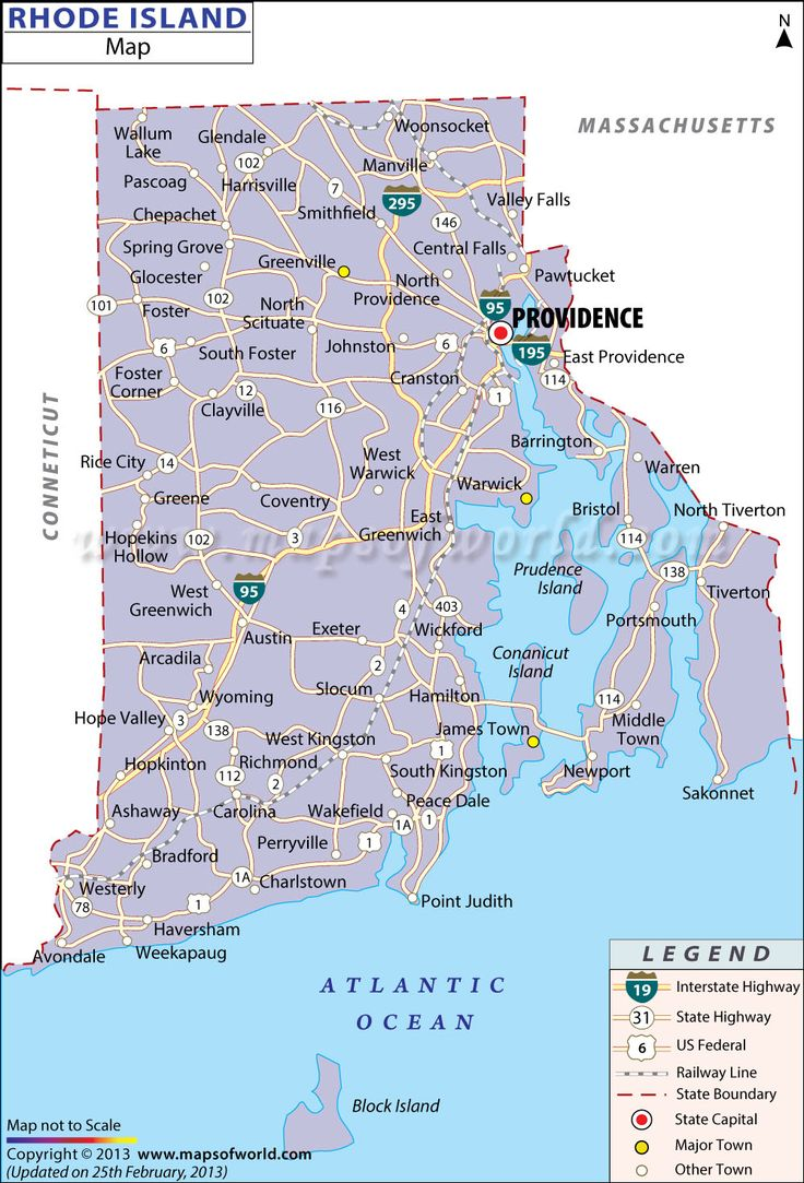 Rhode Island Most Populated Cities