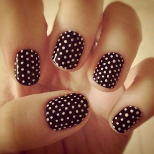 Tumblr Cool Easy Nails Polkadots
