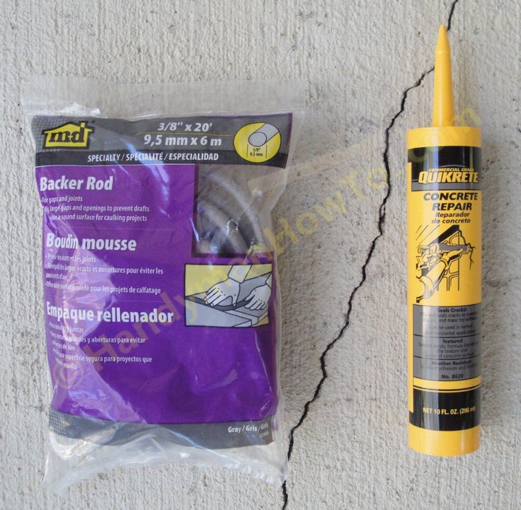 How to repair a cracked concrete patio slab with QUIKRETE® Concrete Repair No. …