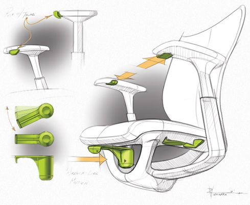Industrial Design ideation Workchair