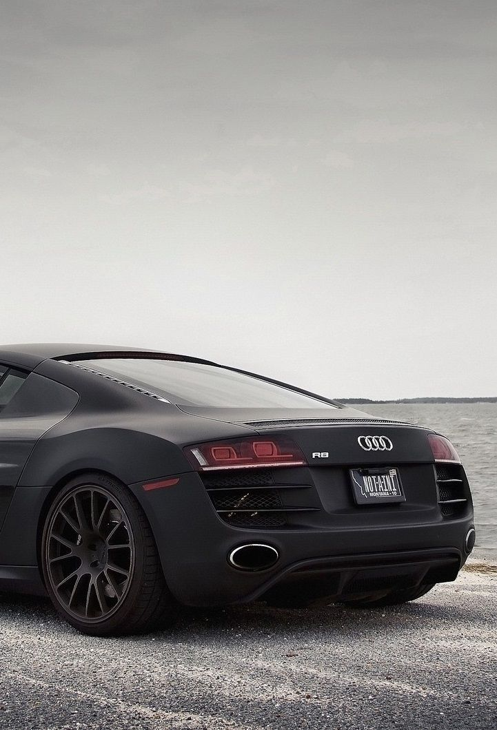 Matte black Audi R8 #CarFlash | What Drives You? | Pinterest
