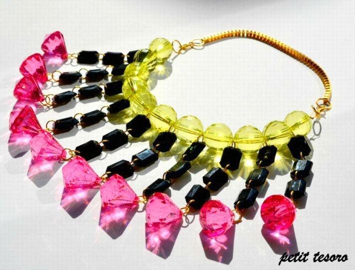 Colorful & fresh handmade necklace to make your summer style joyful!