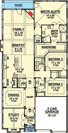The 25 best narrow house plans ideas on pinterest small for Lot plan search