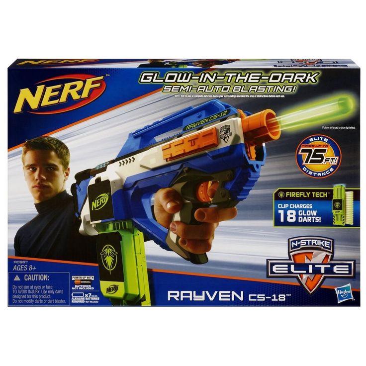 Nerf N-Strike Elite Rayven Cs-18 Blaster boys gift outdoor Free Shipping  New Fun
