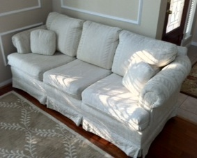 White Couch - The Woodlands Texas Furniture For Sale - Living Furniture Classifieds on Woodlands Online