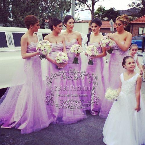 Платье подружки невесты сердечком off-плечи модест лиловый длинная русалка платье подружки невесты клиент сделал платье подружки невесты