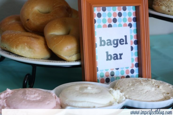 Bagel bar - I like this idea for breakfast or brunch time meetings.