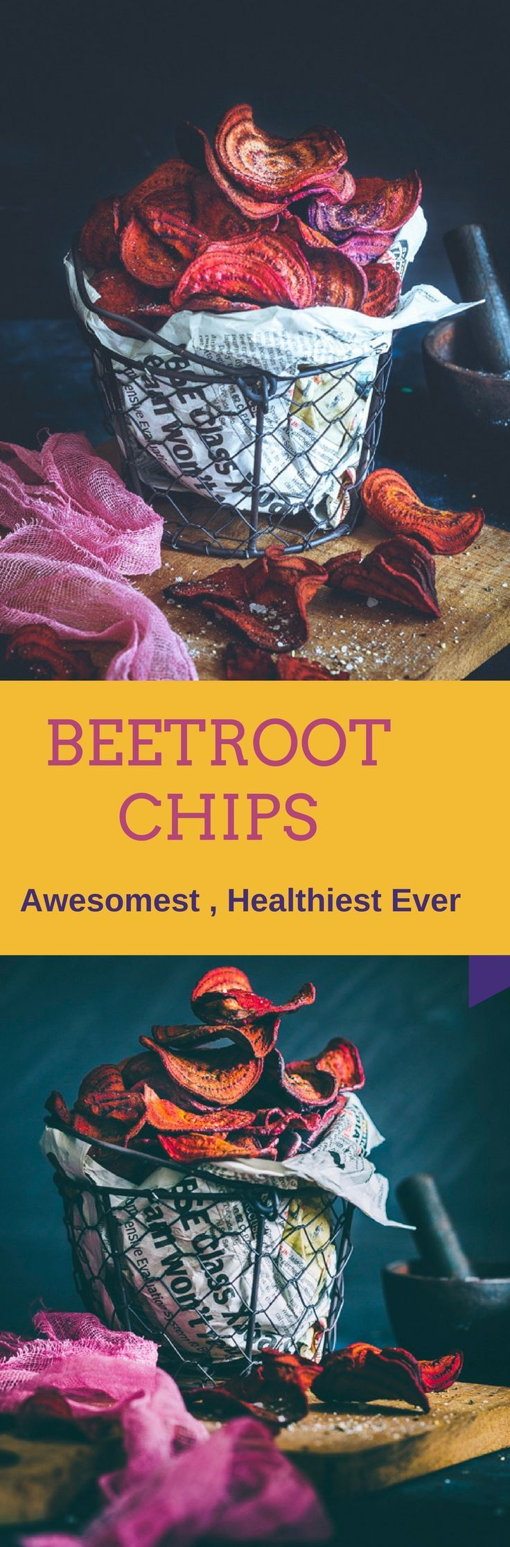 Let me introduce you to the Awesomest Healthy Chips, something that you can gobble every single day – BEETROOT CHIPS. Even if you hate Beet, Try one - You will love it !