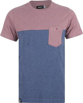 Wemoto Shorty T-Shirt darkblue melange im weare Shop