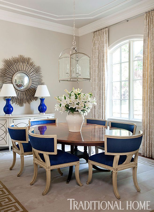 701 best images about blue and white interiors on for Best transitional dining rooms
