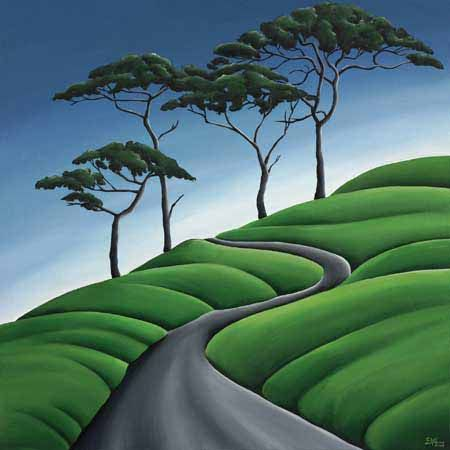Sinuous Path Canvas Print by Diana Adams