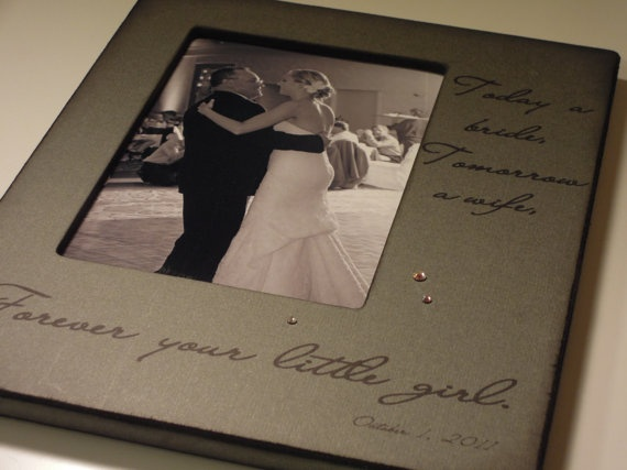 Gift For My Dad On My Wedding Day : For my Father on my Wedding Day - Personalized Photo Frame - Gift from ...