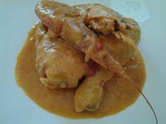 la cocina de May: POLLO CON LANGOSTINOS