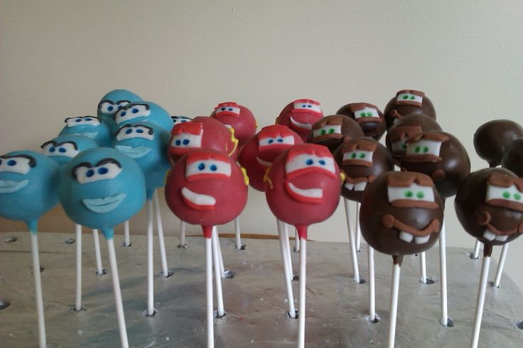 Disney cars cake pops  by www.cakethatbakery.com
