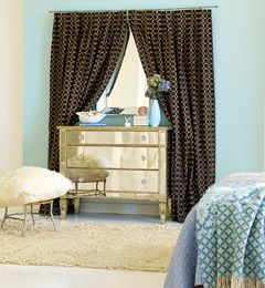 Some rooms don't have windows. It's not worth moving over. Work this decorating trick into a room without it feeling fake. You can create an optical illusion by working with mirrors. They can reflect light, expand your space, and even provide some depth. Boom -- instant window.