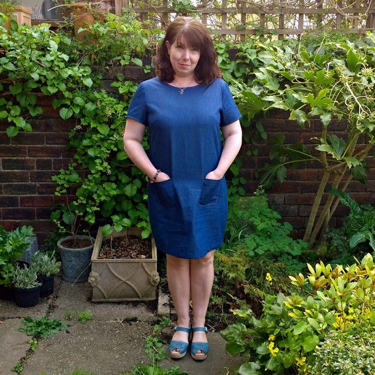 Denim Colette laurel shift dress