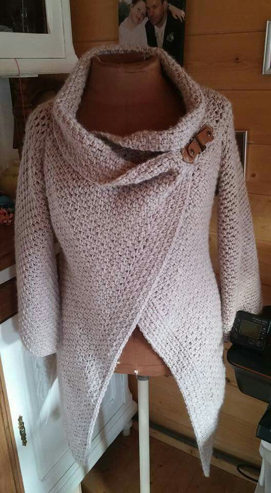 Roze vest (geen patroon)