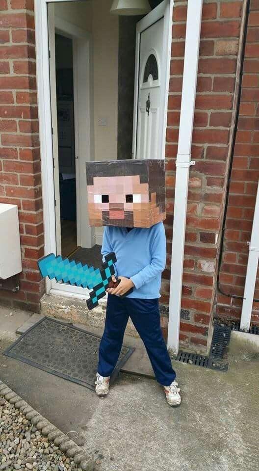 Costume World book day Disfraz Minecraft Steve