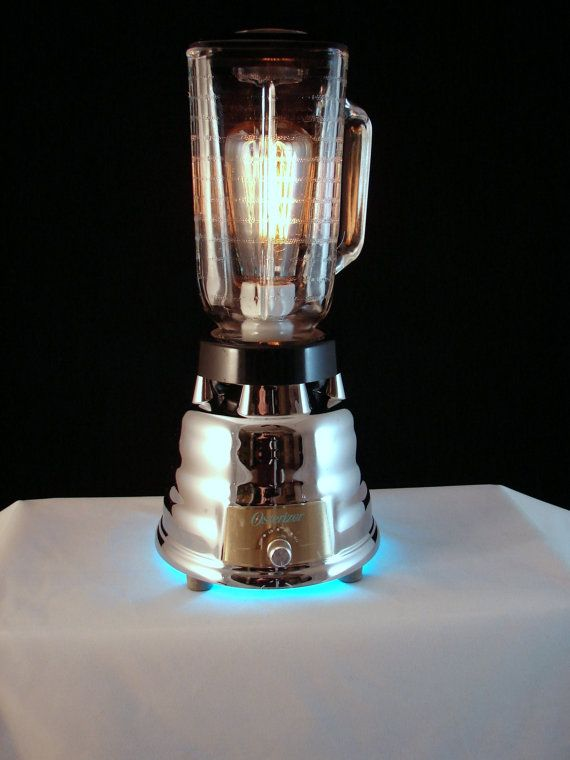 Table Lamp Upcycled Oster Blender by BenclifDesigns on Etsy, $172.00