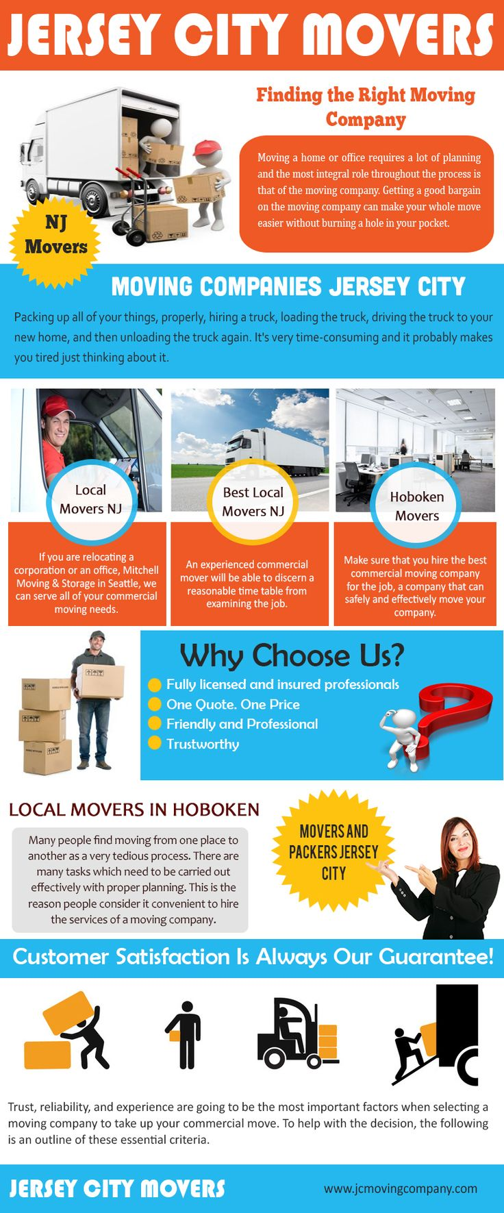 Our website: http://jcmovingcompany.com/ Find the best moving companies through internet by using their keywords and ensure that the Movers NJ company offers you the following facilities such as competitive pricing.