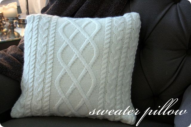 sweater pillow Tutorials Pinterest