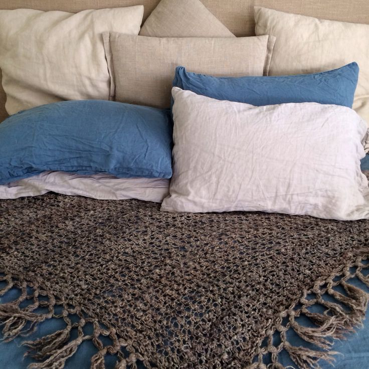 Linen and mix n match. French linen white home .... Nana's handmade throw