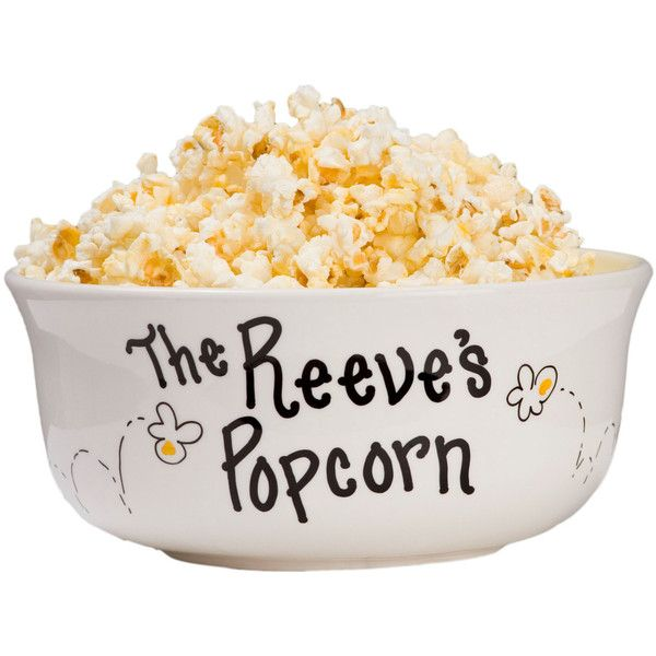 Hand Painted Personalized Family Popcorn Bowl Large Ceramic Pop Corn... ($27) ❤ liked on Polyvore featuring home, kitchen & dining, serveware, bowls, dining & serving, home & living, silver, ceramic serving bowl, personalized popcorn bowl and microwave safe bowl