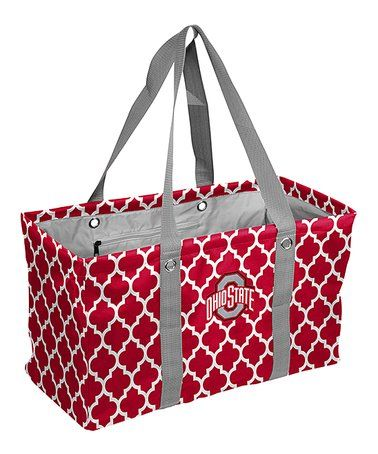 Love this Ohio State Buckeyes Quatrefoil Picnic Caddy on #zulily! #zulilyfinds